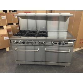 6 Burner Range With 24 Griddle And Double Oven